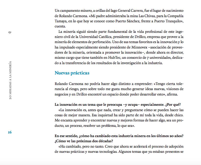 Rolando Carmona, Presidente de Drillco, en 20 Miradas a la Mineria de Vantaz Group