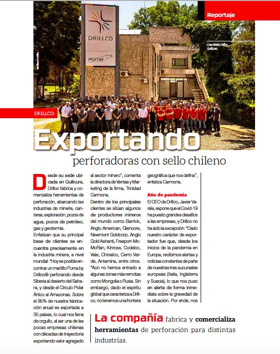 Entrevista a Drillco en Revista Minería Chilena Febrero 2021